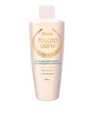 Бальзам-кондиционер для сухих, окрашенных и поврежденных волос с биозолотом и маслом авокадо