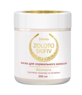 Маска для нормальных волос с биозолотом, протеинами пшеницы и витаминами