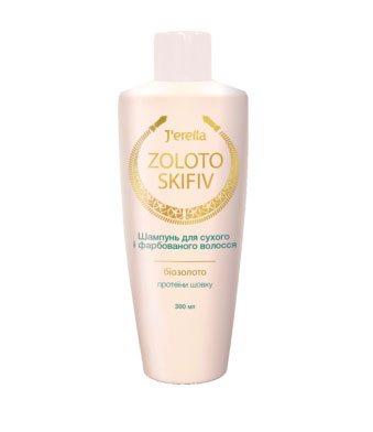 Шампунь для сухих, окрашенных и поврежденных волос с биозолотом и протеинами шелка